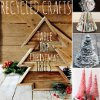 Recycled Crafts: 24 Table Top Christmas Trees