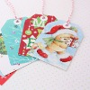 Recycled Christmas Card Gift Tags