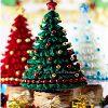 Kanzashi Fabric Christmas Tree