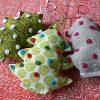 Knotty Sewn Tree Ornaments