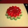 Poinsettia Christmas Soap