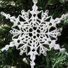 Sparkly Crochet Snowflake Ornament