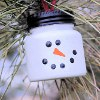 Mini Jar Snowman Ornament