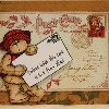 Stamped Holiday Postcard