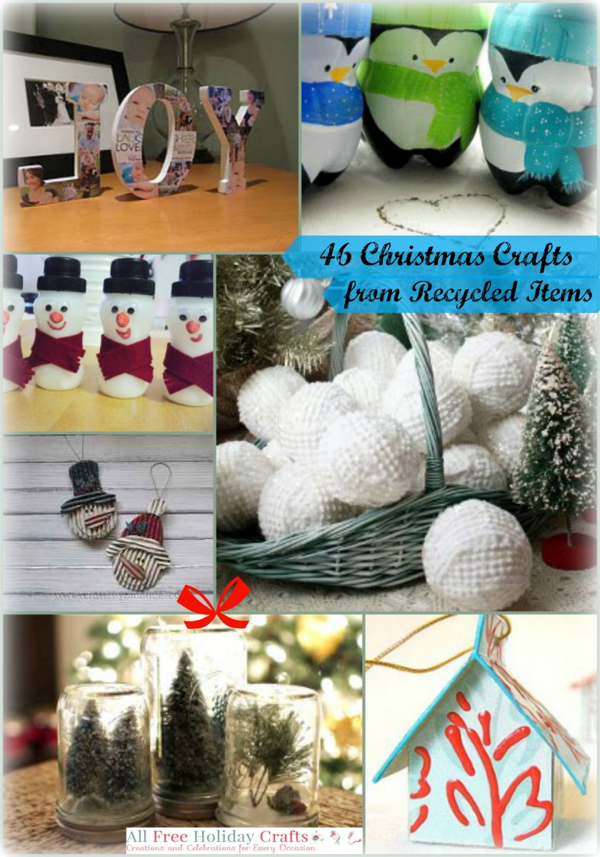 52 christmas crafts from recycled items for All free holiday crafts
