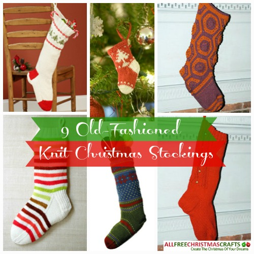 9 Old-Fashioned Knit Christmas Stockings