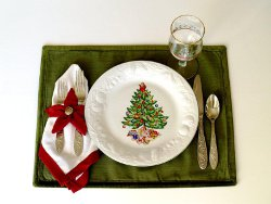 Poinsettia Placemats and Napkins