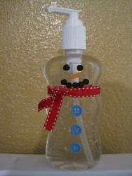 Snowman Hand Sanitzier