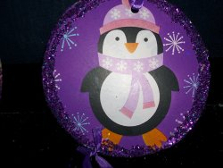 Purple Penguin Ornaments