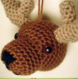 Free Crochet Reindeer Ornament Patterns : Crochet Ornaments: 27 Free Christmas Patterns ...