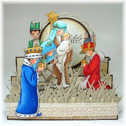 Nativity Stair Step Card