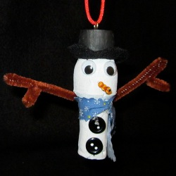 Snowman%20Cork%20Ornament Recycling Bottles for Christmas Crafts from Top to Bottom