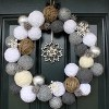 Yarn Snowball Wreath