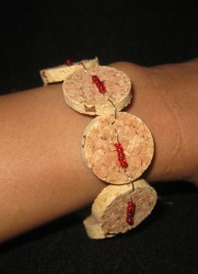 cork bracelet Recycling Bottles for Christmas Crafts from Top to Bottom