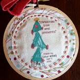 Mini Monet Christmas Ornament Tutorial