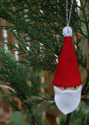 10 Minute Santa Ornament