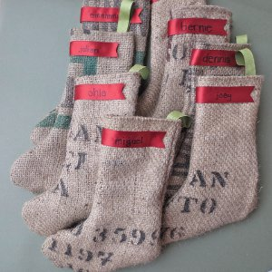 Burlap Bag Stocking