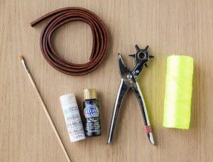 DIY Graphic Leather Dog Leash Materials